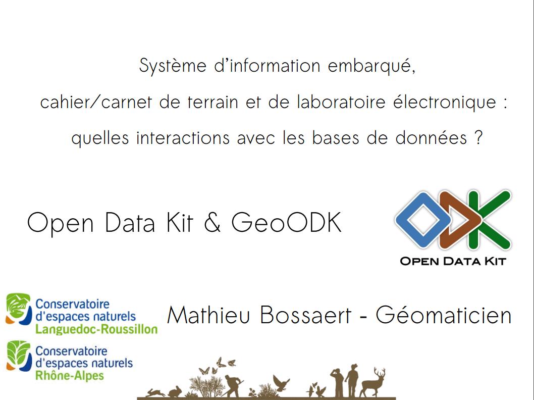 Présnetation d'ODK / Geo ODK