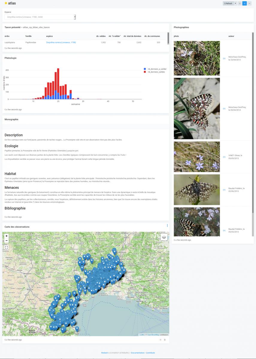 Un atlas de répartition d'espèces avec Redash
